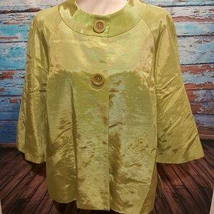 Relativity - Chartreuse Jacket NWT! Size 12